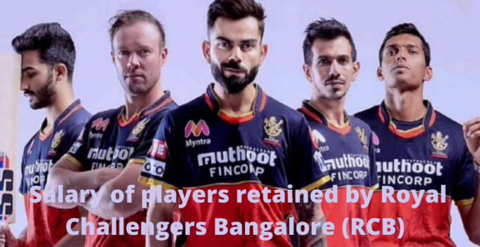 IPL 2021: Salary of players retained by Royal Challengers Bangalore (RCB)